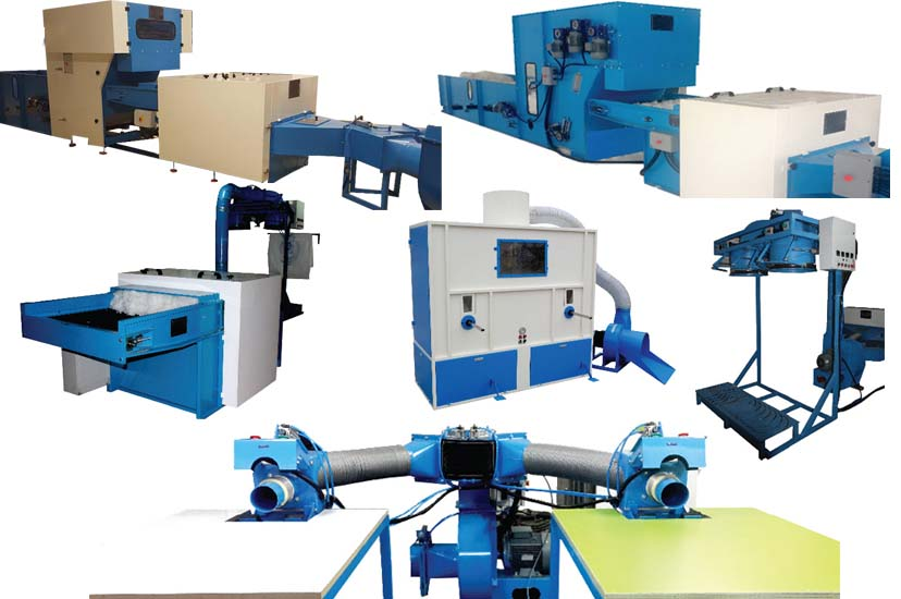 pillow, toy and jacket filling machines